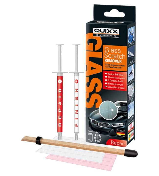 Quixx Glass Stratch Remover naarmunpoistaja lasipinnoille