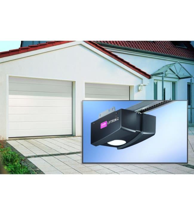 IsoMatic Nordic valkoinen 2375x2125mm autotallin nosto-ovi, sis. koneisto + kaukosäädin