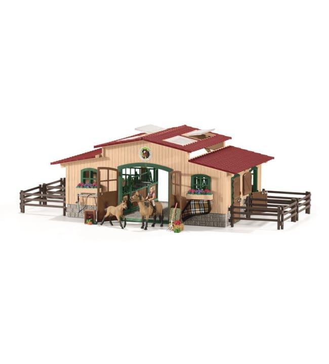 Schleich Farm World 42195 Hevostalli, mukana hevoset ja tarvikkeet