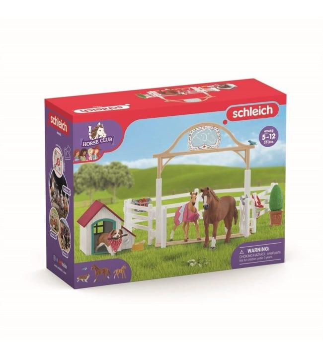Schleich Horse Club 42458 Hannahin hoitohevoset ja Ruby-koira