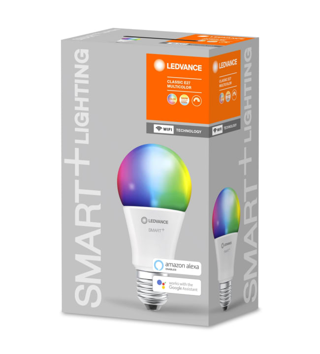 Ledvance Smart+ WiFi Classic E27 9W Multicolor RGBW led-älylamppu