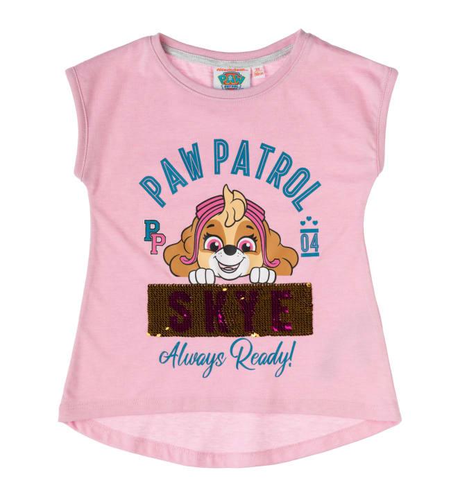Paw Patrol kääntöpaljetti lasten t-paita