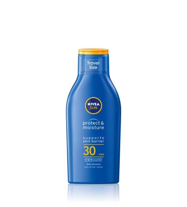 Nivea Sun Protect & Moisture SK30 100 ml aurinkosuojavoide