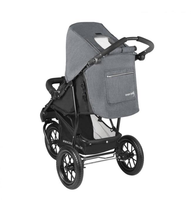 Knorr-Baby Joggy S harmaa kolmipyöräinen lastenrattaat