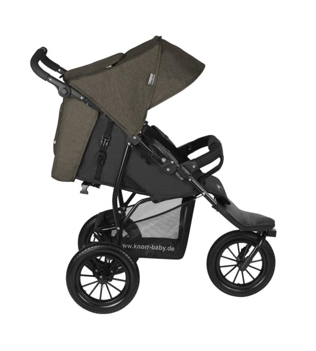Knorr-Baby Joggy S ruskea kolmipyöräinen lastenrattaat
