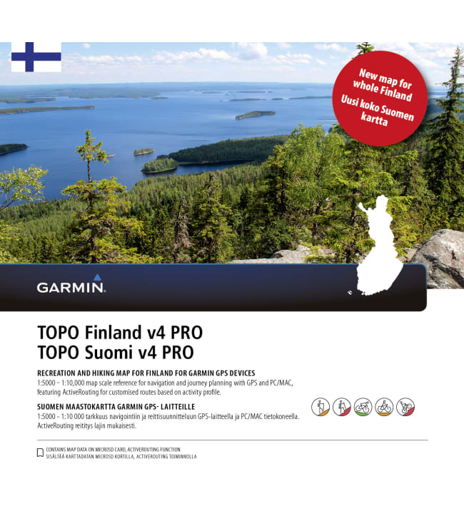 Garmin Topo Suomi v4 Pro kartta