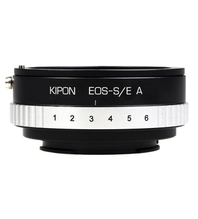 Kipon Canon EF - Sony E objektiivisovitin himmenninrenkaalla