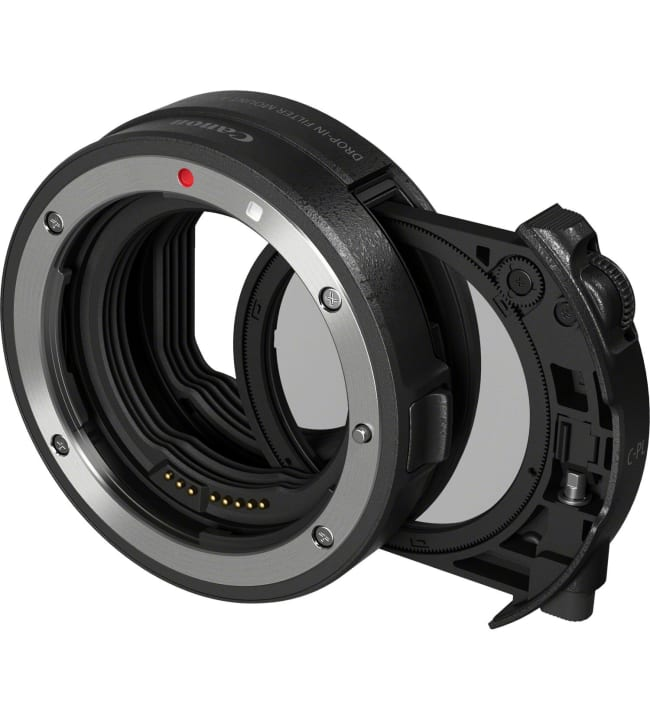 Canon Drop-in Filter Mount Adapter EF-EOS R with Drop-in Circular Polarizing Filter A kiinitysadapteri