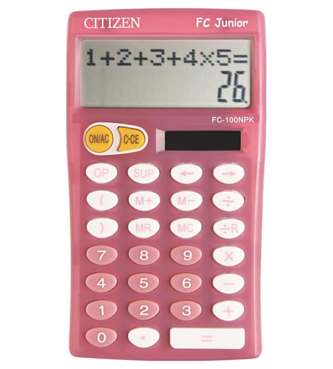 Citizen Junior pinkki koululaislaskin