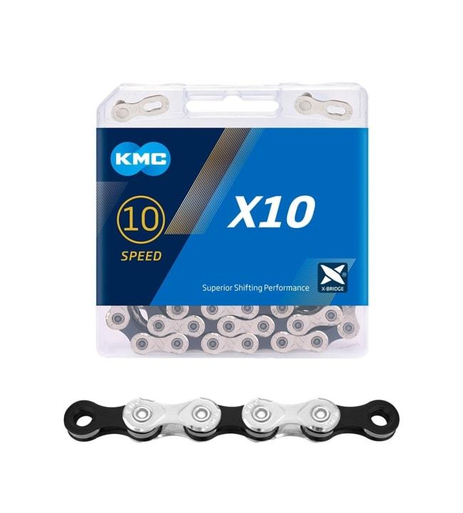 """KMC X10 1/2x11/128"""" 114L polkupyöränketju"""
