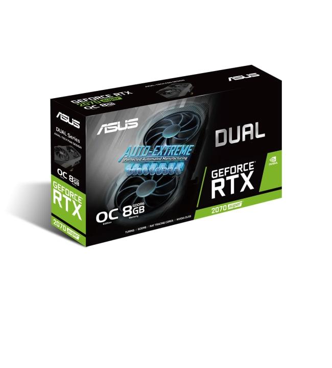 Asus DUAL RTX 2070 Super EVO Overclocked 8GB näytönohjain