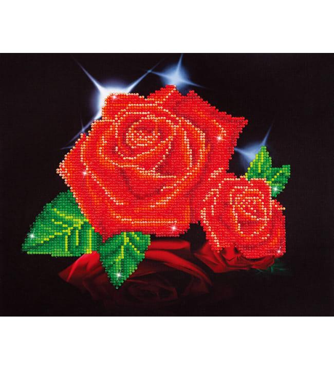 Diamond Dotz Red rose sparkle timanttiaskartelutyö