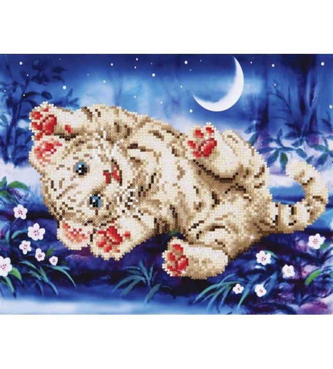 Diamond Dotz Baby tiger roly poly timanttiaskartelutyö