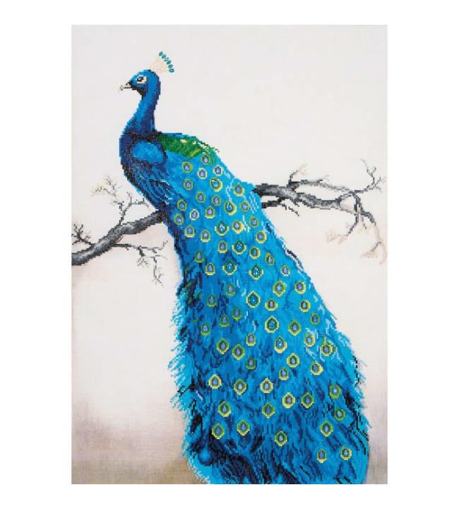 Diamond Dotz Blue peacock timanttiaskartelutyö