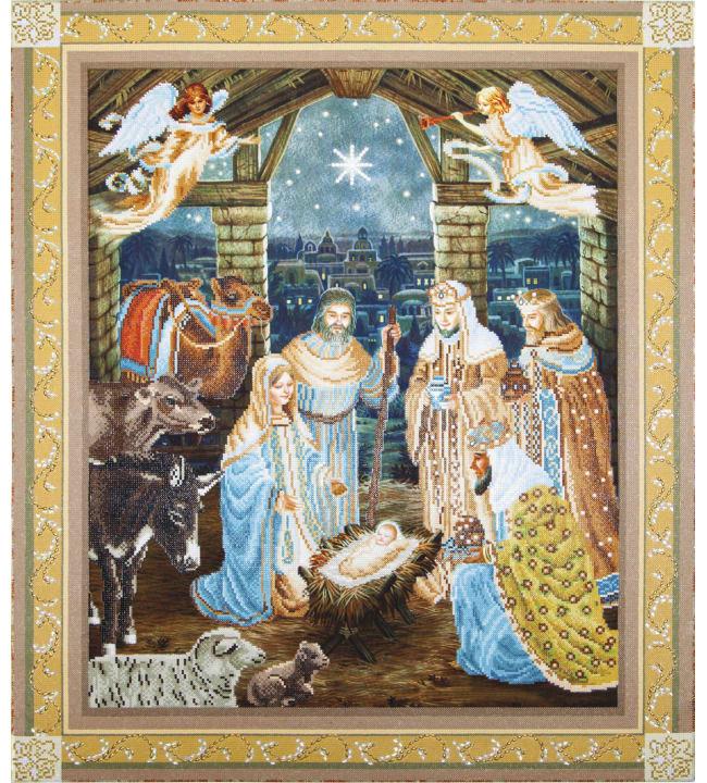 Diamond Dotz Nativity scene timanttiaskartelutyö