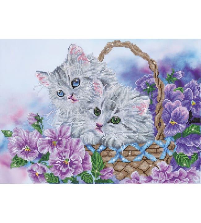Diamond Dotz Kitty basket timanttiaskartelutyö