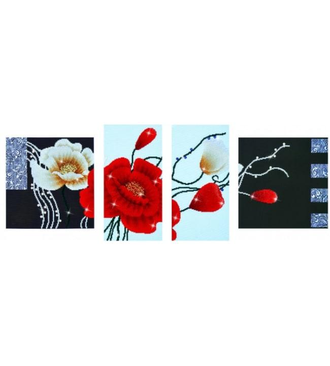 Diamond Dotz Art deco poppies timanttiaskartelutyö