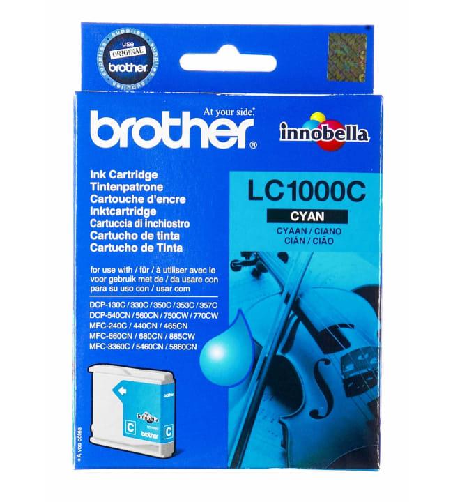 Brother LC1000C syaani mustepatruuna