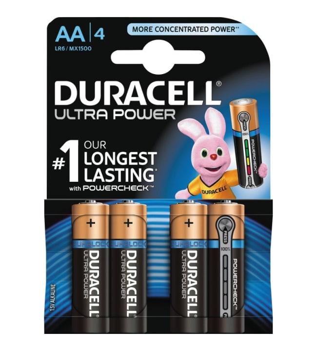 Duracell Ultra Power AA 4kpl alkaliparisto