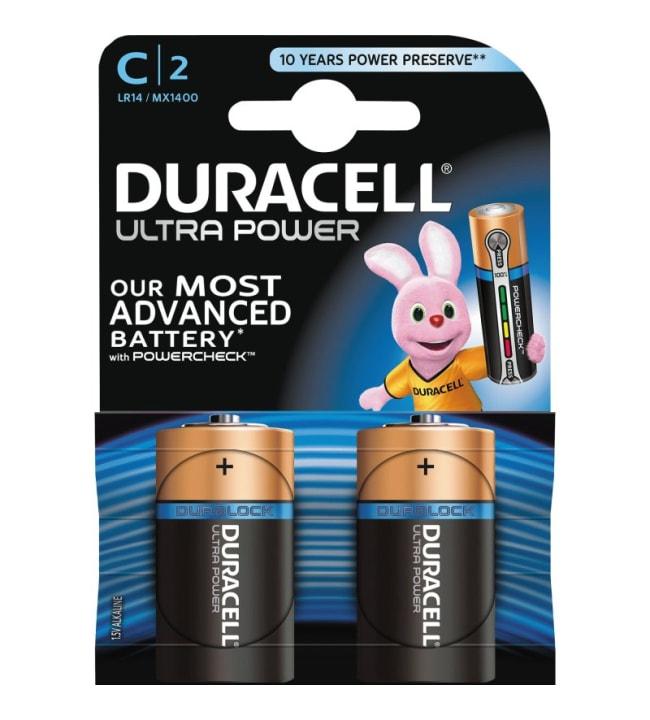 Duracell Ultra Power C 2kpl alkaliparisto