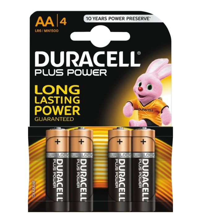 Duracell Plus Power AA 4kpl alkaliparisto