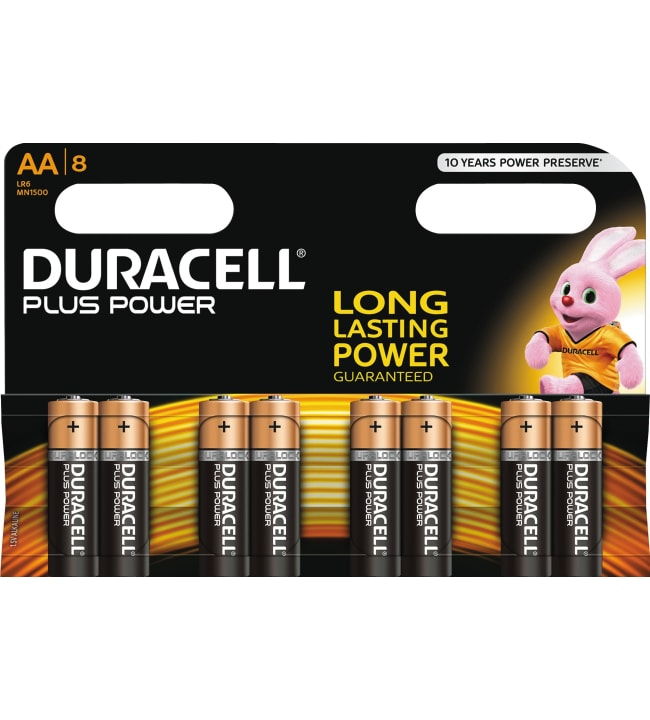 Duracell Plus Power AA 8kpl alkaliparisto