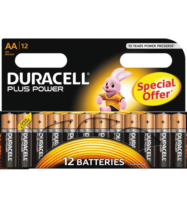 Duracell Plus Power AA 12kpl alkaliparisto