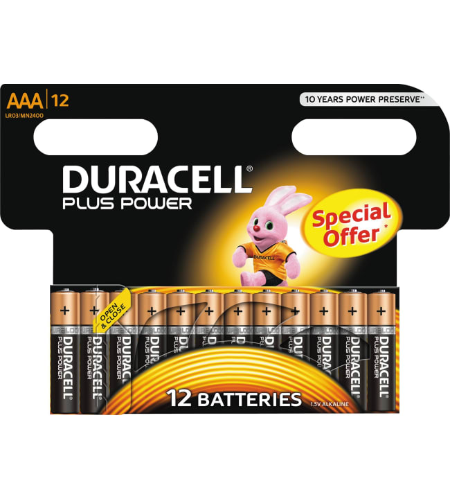 Duracell Plus Power AAA 12kpl alkaliparisto