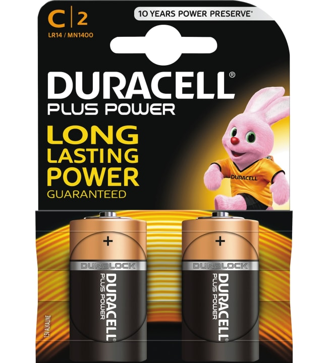 Duracell Plus Power C 2kpl alkaliparisto