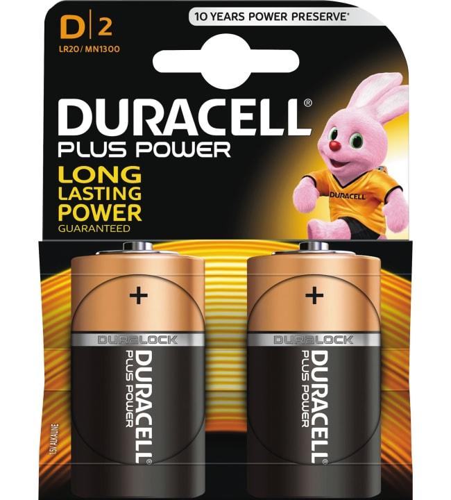 Duracell Plus Power D 2kpl alkaliparisto