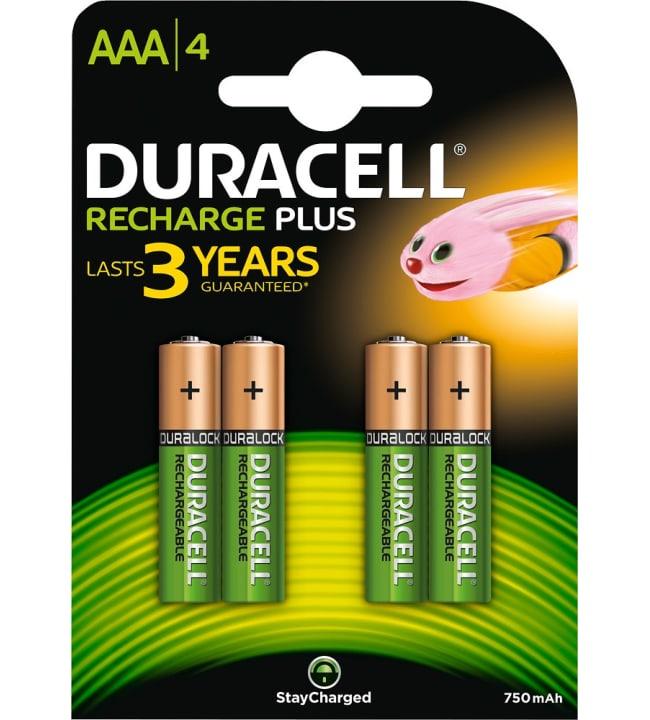 Duracell Recharge Plus AAA 4kpl 750mAh akkuparisto