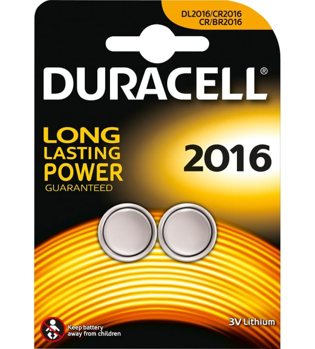 Duracell CR2016 2kpl litiumnappiparisto