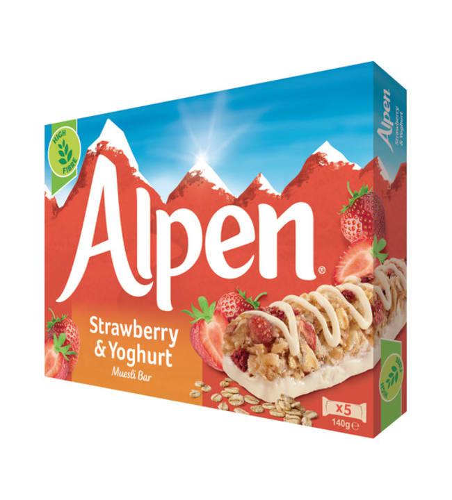 Alpen Strawberry & Yogurt  5x29 g myslipatukka