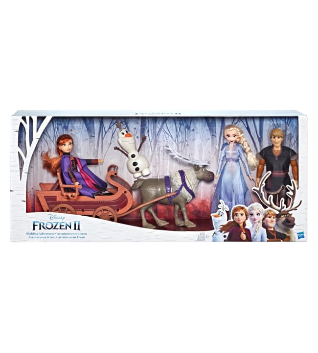 Disney Frozen 2 Character Multipack With Sled hahmot + reki