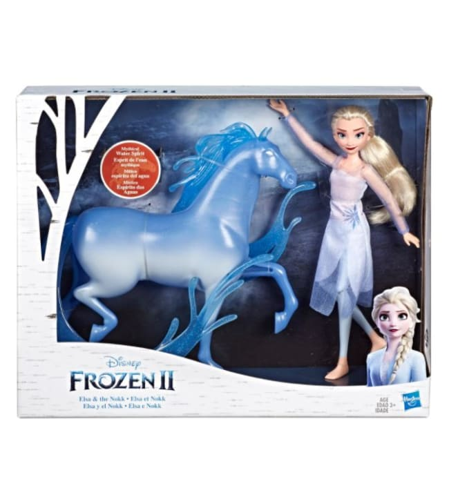 Disney Frozen 2 Elsa muotinukke ja Nokk hevonen