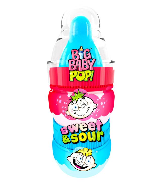 Bazooka Big Baby Pop Sweet&Sour 36 g tikkari