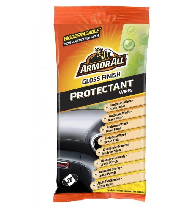 Armor All Wipes 20 kpl kumi & muovi kirkas puhdistusliina