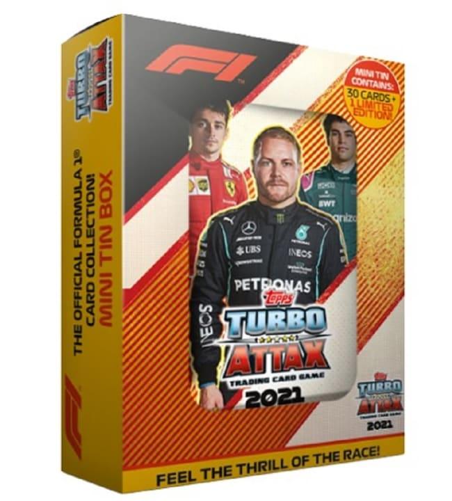 F1 Turbo Attax tasku metallirasia (kortit)