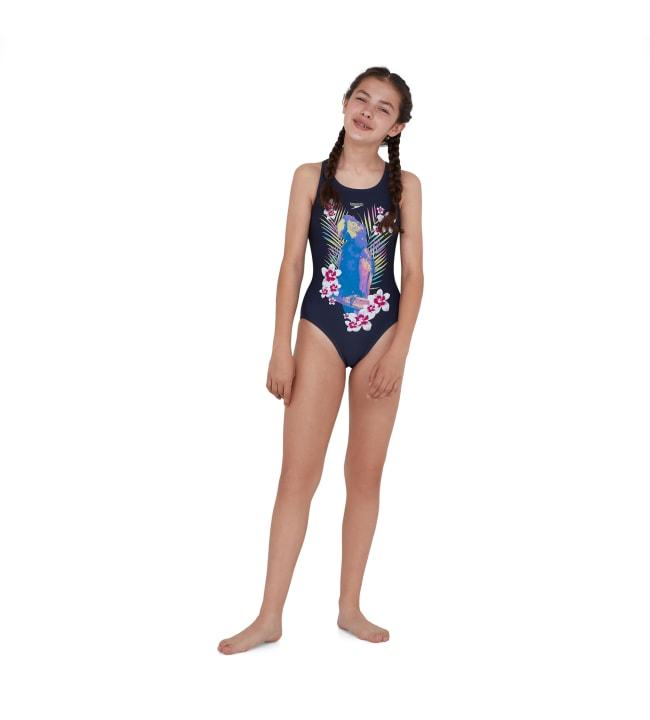 Speedo Jungleglow Digital Placement Leaderback tyttöjen uimapuku