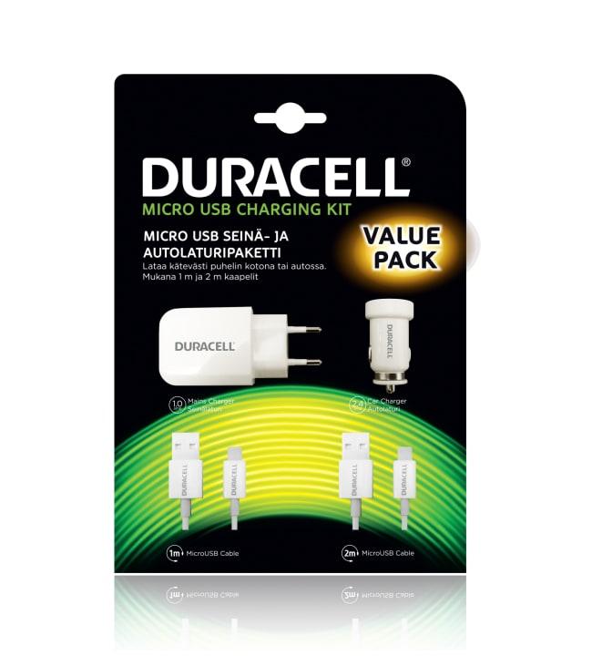 Duracell Micro-USB seinä- ja autolaturisetti