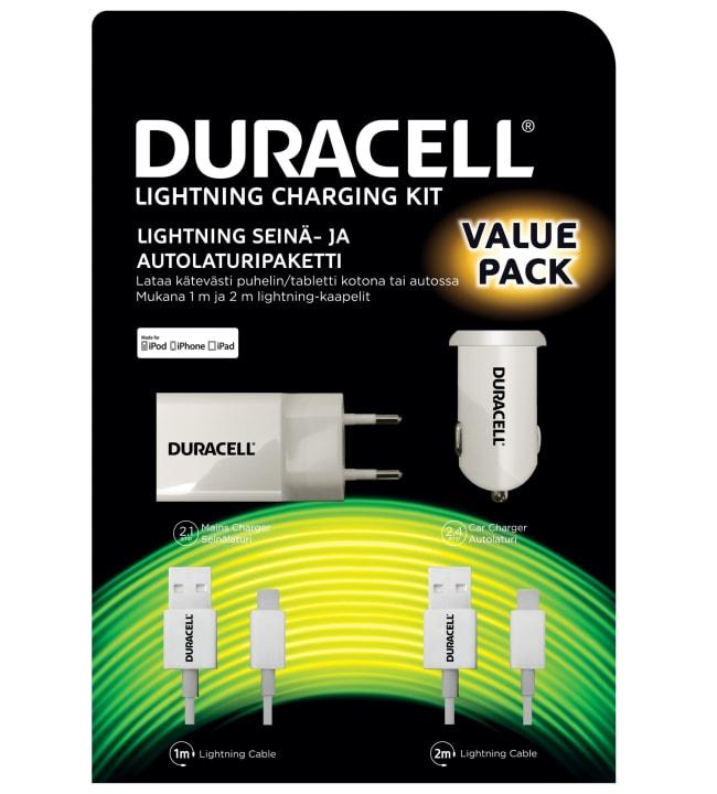 Duracell Apple Lightning auto- ja kotilaturisetti