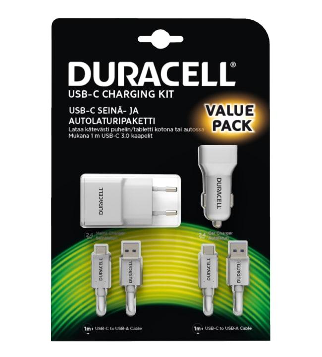 Duracell USB-C auto- ja seinälaturisetti