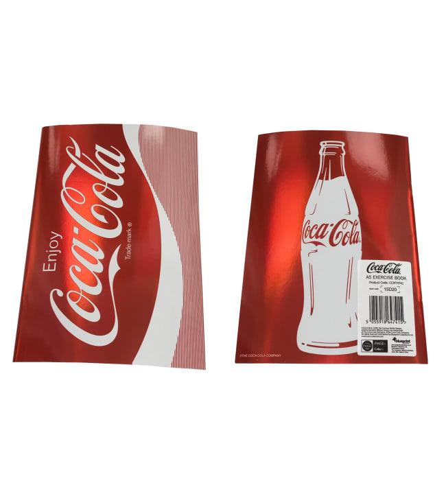 Coca-Cola Metallic A5 nidottu vihko
