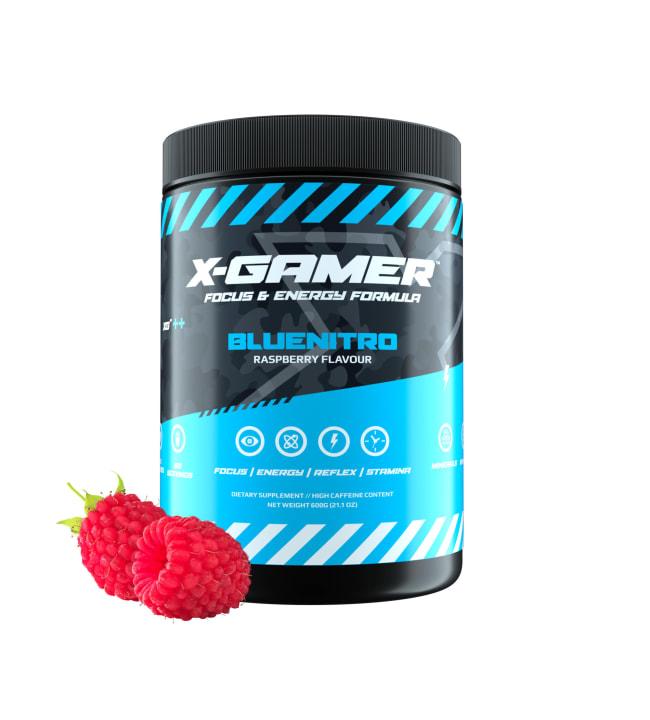 X-GAMER X-Tubz Bluenitro 600g energiajuomajauhe