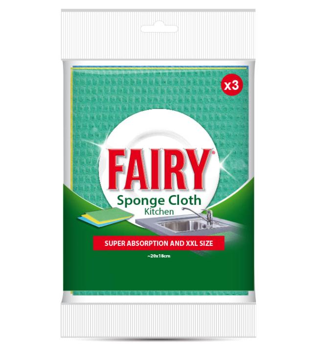 Fairy Sponge Cloth 3 kpl sieniliina