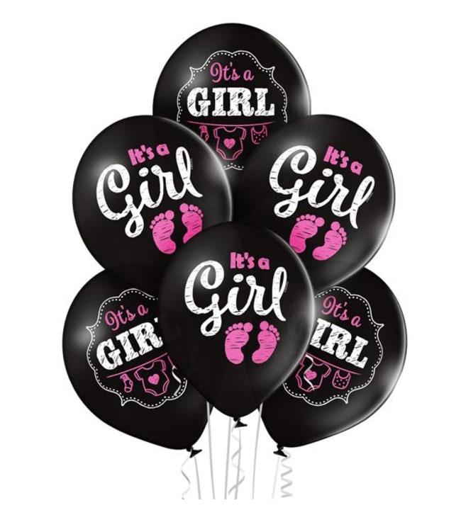 Belbal It's a Girl 6 kpl ilmapallo