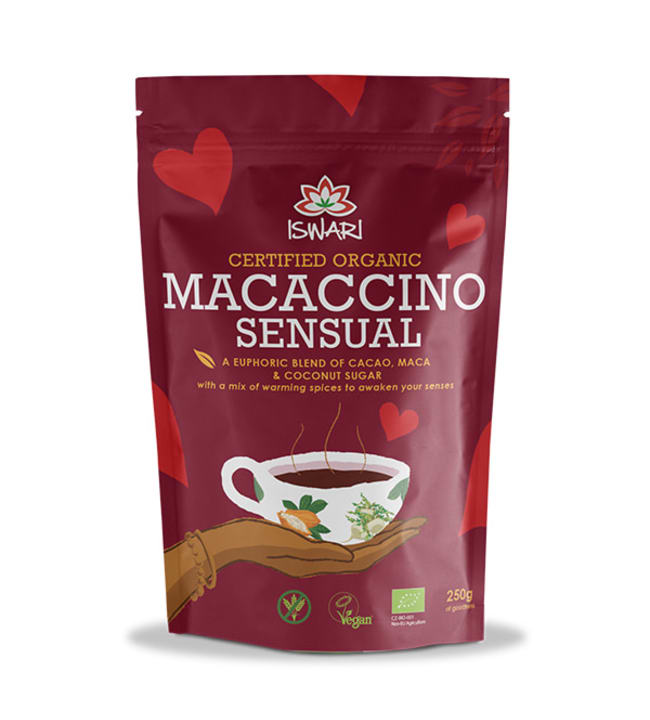 Iswari Maccacino Sensual 250 g luomu kaakaojuomajauhe