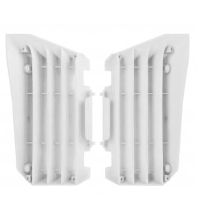Polisport jäähdyttäjän ritiläpari YZ450F 10-13 Valkoinen
