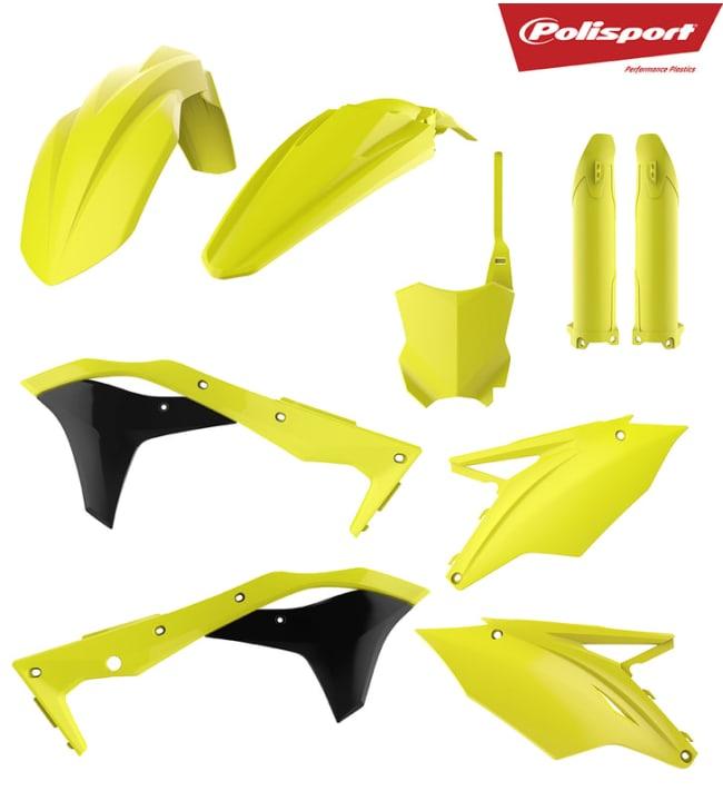 Polisport plastic kit KX250F 17-18 Flo yellow