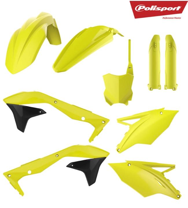 Polisport plastic kit KX450F 16-18 Flo yellow